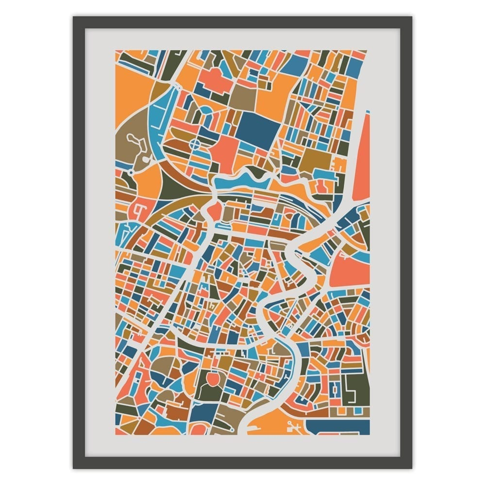 Haarlem print A4 /Posters, Map of Haarlem/ Haarlemse Huisjes webshop ...